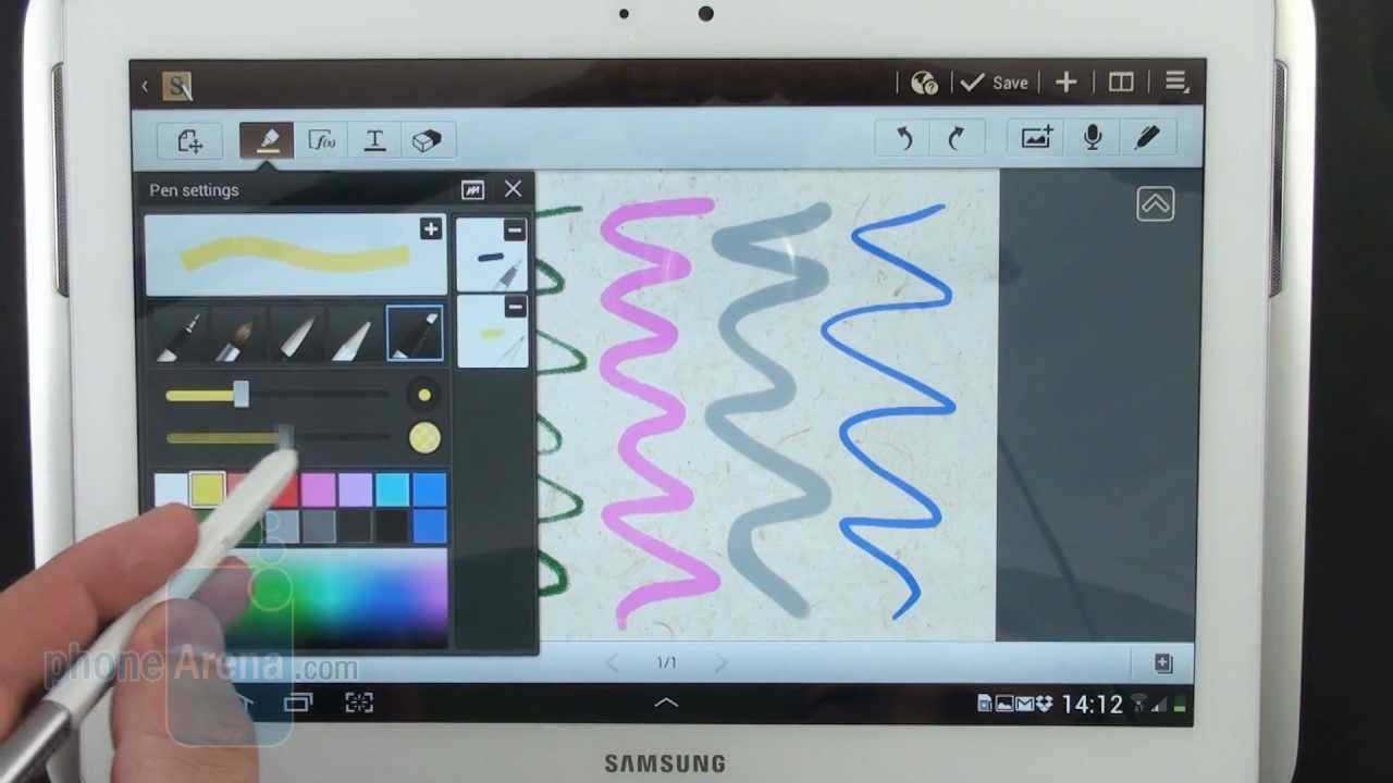 samsung galaxy note 10.1 s note manual