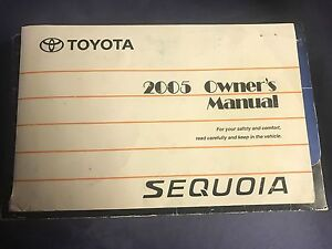 2005 toyota sequoia manual download